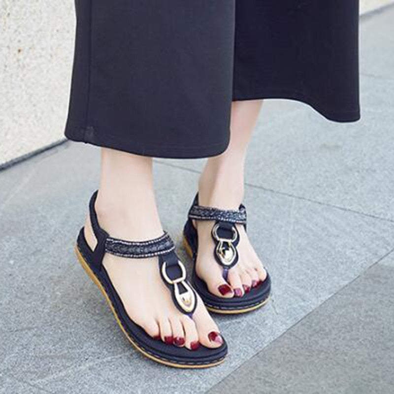 Boho style women shoes inlaid rhinestone flat shoes