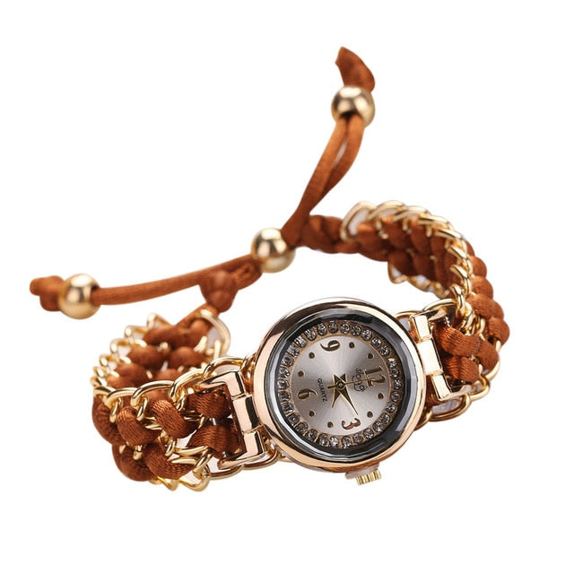 Fashion High Quality Woman Watch Knitting Rope Chain