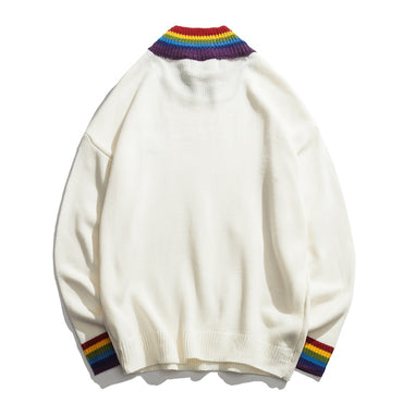 Rainbow Collar Pullover Men's Sweater