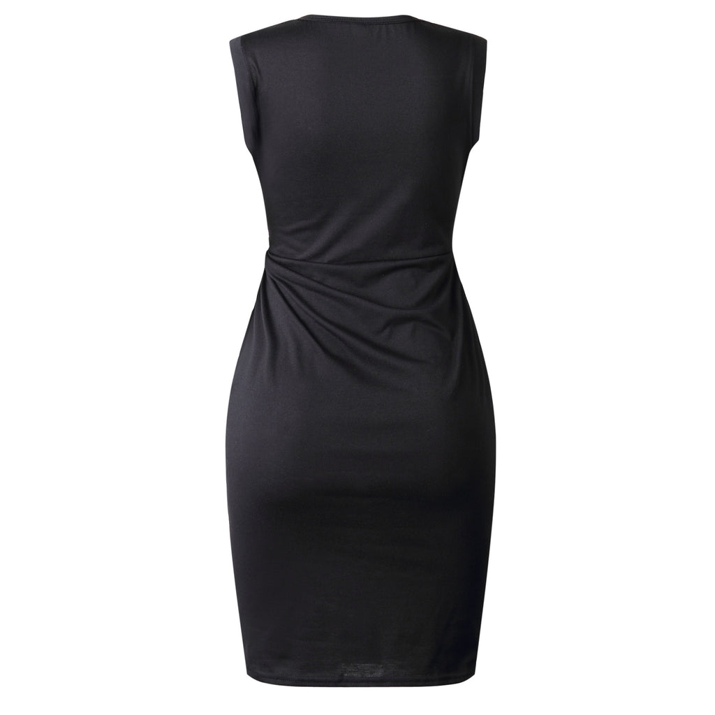 Casual  O-Neck  Solid  Knee-Length  Pencil Dresses