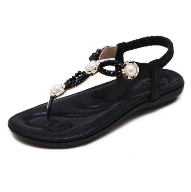 Bohemia comfortable non-slip soft bottom flat women flip flops sandals