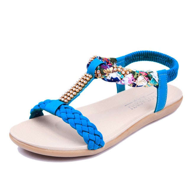 Bohemia Sandals Summer Flat Sandals Fashion Slip  Shoes
