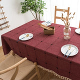 Dot Plaid Decorative TableCloth