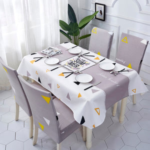 Tassel Waterproof Linen Tablecloth