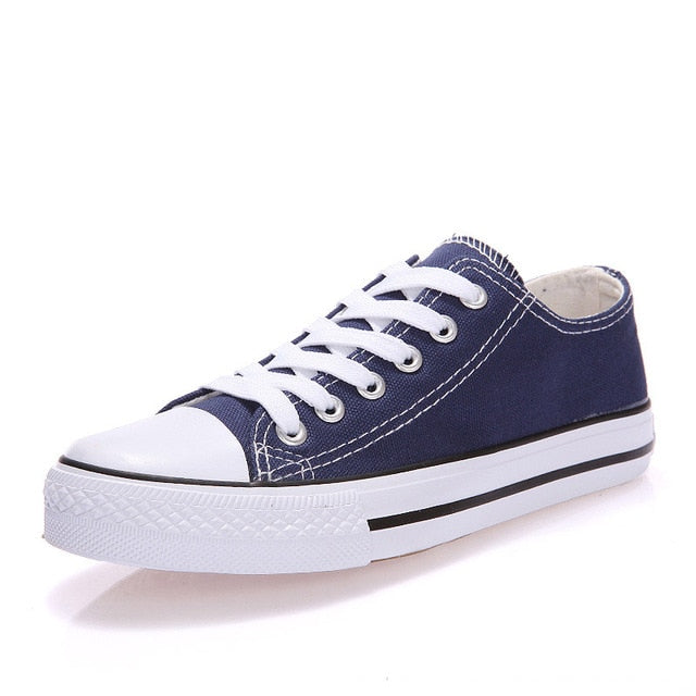 Vulcanized Breathable Flat Casual Classic Canvas Sneakers