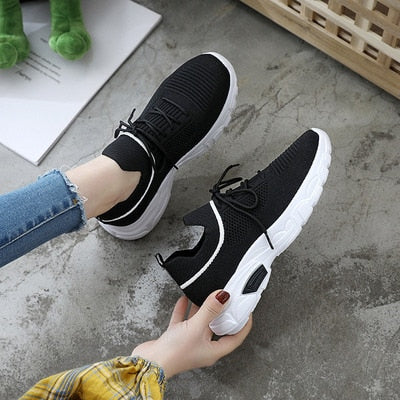 White Platform Trainers Casual Shoes Sneakers