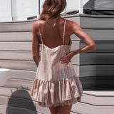 Printing Summer Dress Off-Shoulder short Sleeve Mini Dress