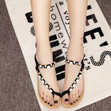 New Sandals Fashion  String Bead Flat Shoes Beaded Bohemia Leisure Sandals