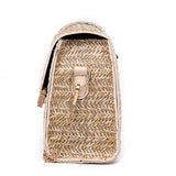 Handmade Woven Cross Body Bohemia Square Straw Bag