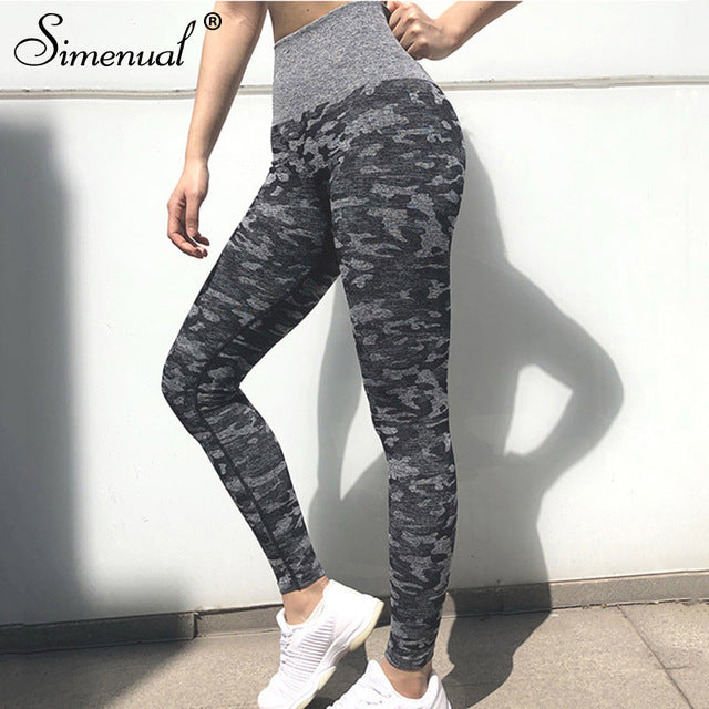 Simenual Sporty Seamless Active Wear Push Up Fitness Leggings