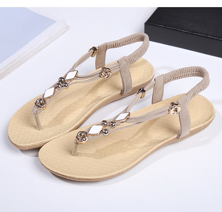New Flats Sandals Summer Shoes Bohemia Style Flip Flop  Shoes