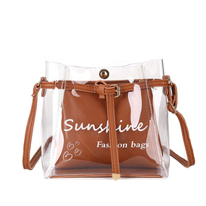design  Transparent Jelly Wild Simple Shoulder Small Bag