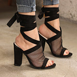 Women Sandals Sexy Breathable High Heel Sandals
