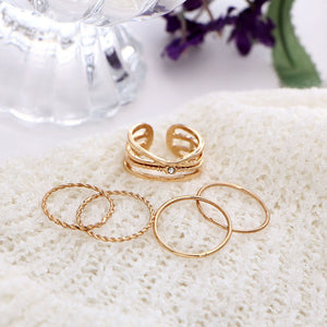 Vintage Women Rings 5 Piece Set
