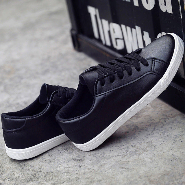 lace-up solid color casual women sneakers