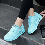 fashion pu leather walking shoes woman flats Lace Up women sneakers