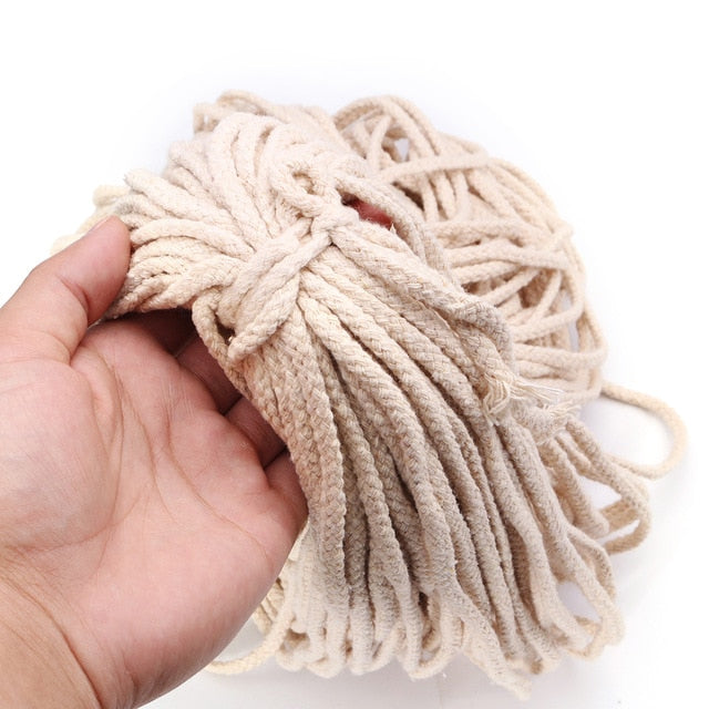 5mmx100m Braided Cotton Rope Twisted Cord Rope DIY Craft Macrame