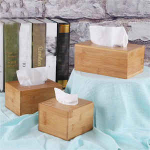 Fashion Creative Style Bamboo Square Tissue Box