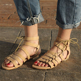 Bohemia Sandals Gladiator Flat Peep-Toe Sandals
