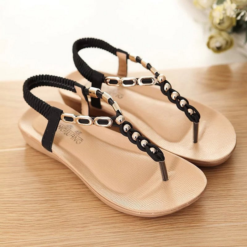 Flats Sandals  Bohemia Style Flip Flops Beach Shoes