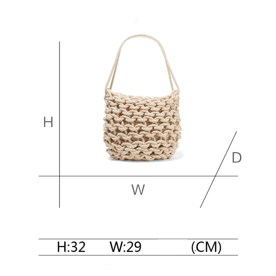 Hollow Out Knitting Tote Shoulder Bags