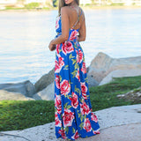 Floral Print  Boho Sexy party night Long Dress