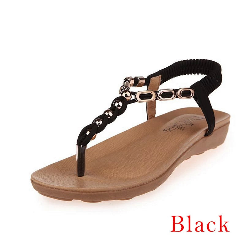 Litthing Women Sandals 2019 New Flats Sandals Women Summer Women Shoe Bohemia Style Flip Flop Beach Shoes Women Beach Slipper