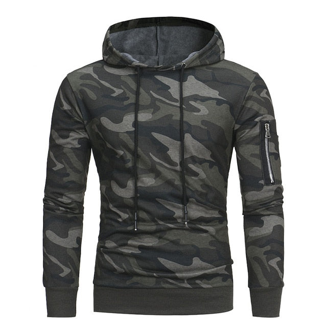 Autumn Camouflage Hooded Sportswear Casual Hoodies Sweatshirt