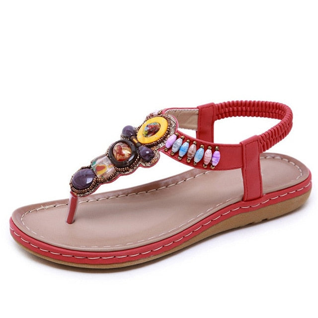 Boho Bohemia beach sandals ethnic string strap amber sandals