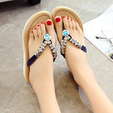 Thick Bottom Flip Flops Flat Sandals Bohemia Style Gladiator Sandals