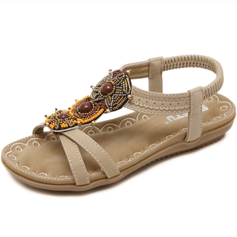 Bohemia Beaded Open Toe Sandals