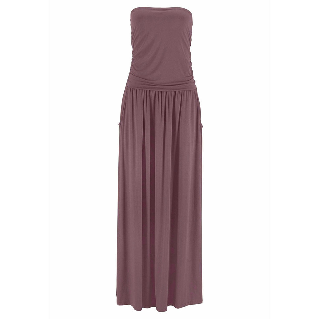 Women Holiday Off Shoulder Solid Maxi Dress