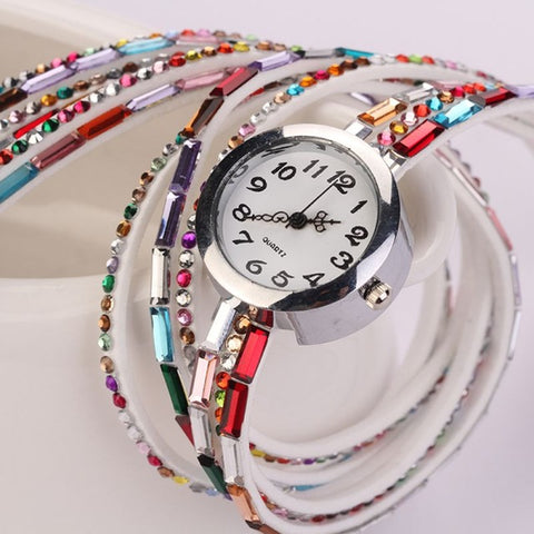 Fashion Boho Rhinestone Quartz Watches
