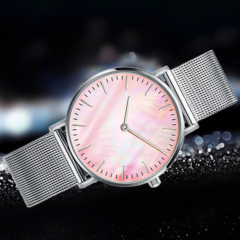 Minimalist Watches  Fashion Luxury Brand Quartz Watch Gold Stainless Steel
