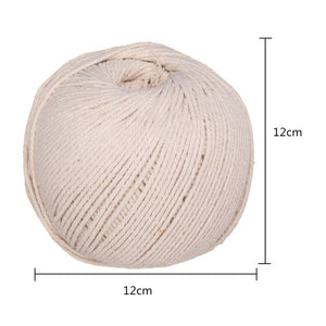 1Pcs 5mm/100M Natural Beige Cotton Twisted Cord Handmade Jute Bundle Rope