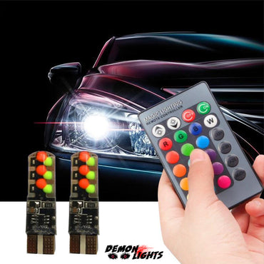 T10 RGB LED Headlight Bulbs
