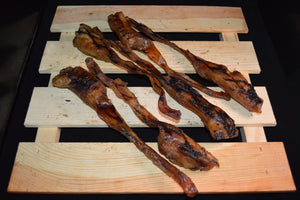 These beef tendons are and excellent choice for small to medium dogs. Medium density.