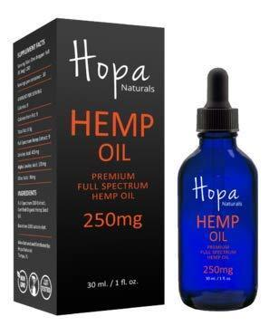 Hemp Oil Extract for Pain, Anxiety & Stress Relief - 100% Natural USA Grown & Produced - 250mg of Organic Hemp Extract