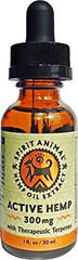 Spirit Animal Active Hemp Oil 300 mg for pets. Organic & Non-GMO Made in USA! Hemp Oil with Powerful Therapeutic Terpenes for dogs, cats & small animals. Supports mental, physical and emotional health