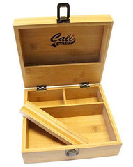 Cali Factory Large Size Bamboo Box Storage Organizer - Classic and Neat Design Stash Box, for Smoking Accessory Item# LGSB062118-1
