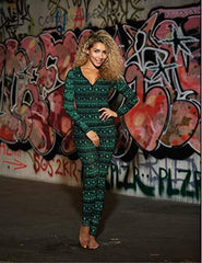 High Demand Women's Black Green Knit Jersey Onesie-M