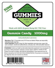20ct Premium Hemp Gummies Watermelon Flavor- 50mg per Gummy Ring (1000 mg per Bag) - Organic Hemp - 0% THC - Relief for Stress, Pain, Inflammation, Anxiety, Depression, Nausea, Omega 3,6,9 and More