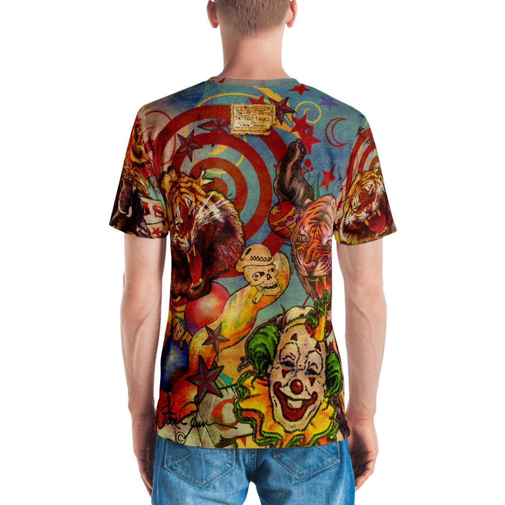"'THE CIRCUS TATTOO TEE""; Men's T-shirt"