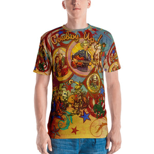 """THE COWBOY TATTOO TEE""; Men's T-shirt"