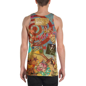 """THE MARTINI TATTOO TANK""; Unisex Tank Top"
