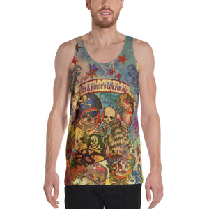 "THE ""PIRATE TATTOO TANK""; Unisex Tank Top"