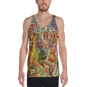 "THE ""MERMAID TATTOO TANK""; Men's Tank Top"