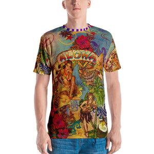 """THE ALOHA TATTOO TEE""; Men's T-shirt"