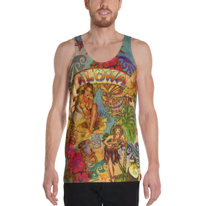 "THE ""ALOHA TATTOO TANK""  Unisex Tank Top"
