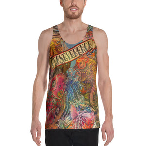 "THE ""KOI TATTOO TANK""; Unisex Tank Top"